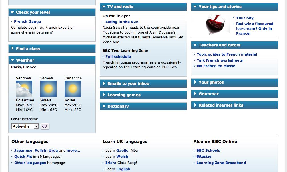 BBC contents