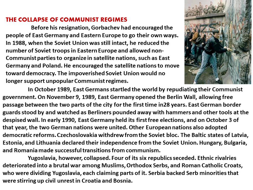 an analysis of the collapse of communism in eastern europe How did communism collapse in eastern europe what are the causes of the collapse of communism in eastern europe and the soviet union answer questions.