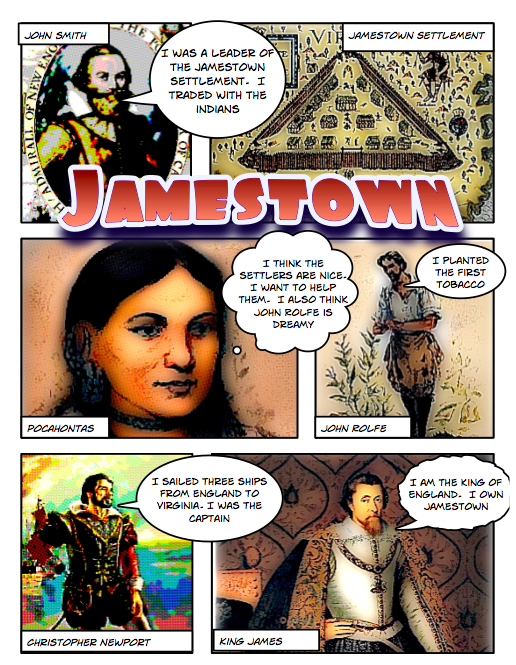 4th Grade Jamestown Comics Elementary Technology Lessons