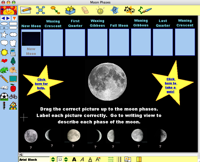 4th Grade Moon Phases u2013 Elementary Technology Lessons