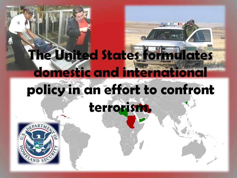 national laws on terrorism Every instrument of national power— diplomatic, economic, law enforcement, finan-cial, information, intelligence national strategy for combating terrorism.