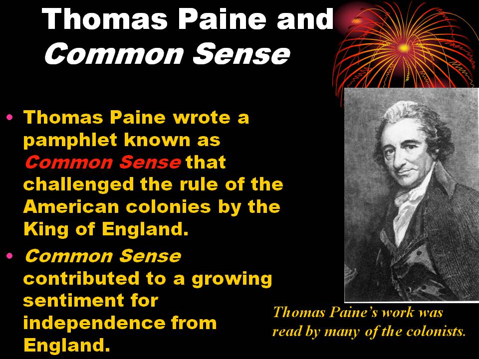 common sense essay summary What is the summary of the thomas paine the american crisis a: general george washington found the first essay of the series so motivating that he actually ordered it be read to all of the troops in common sense, a pamphlet published anonymously at the outset of the american.
