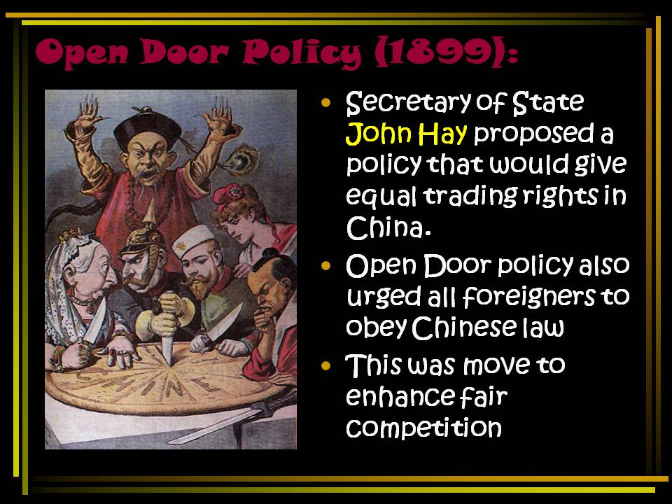 an analysis of american imperialism and the open door policy New american nation » o-w » open door policy open door policy photo by: bbb3 hay's proclamation of the open door policy was a landmark moment in the history of.