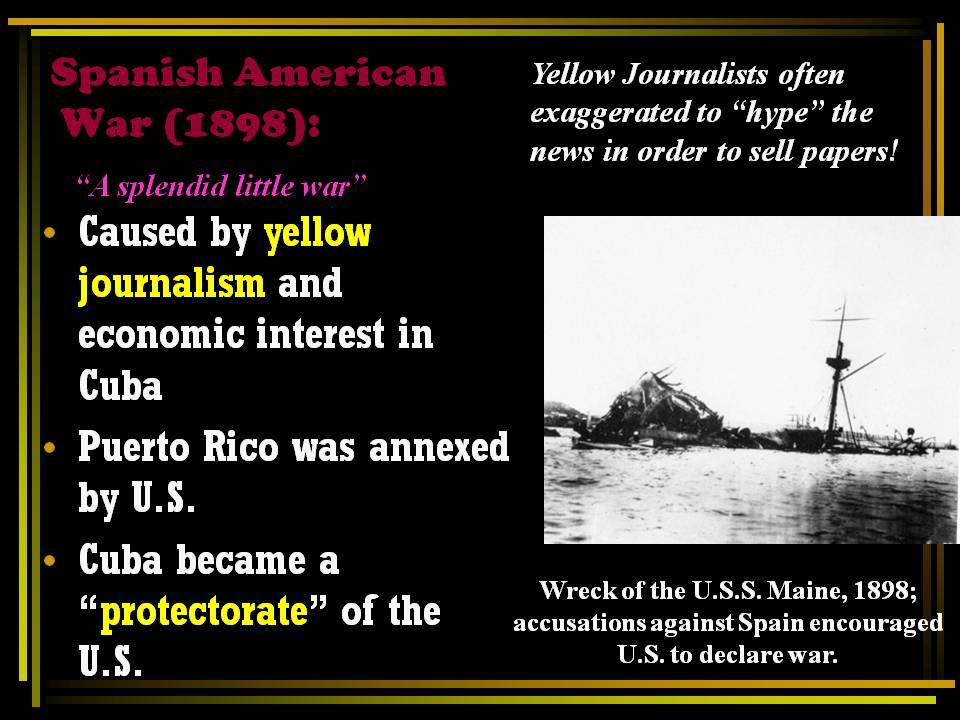 yellow journalism essay Check out our top free essays on yellow journalism to help you write your own essay -yellow journalism 40teddy roosevelt's political party during the 1912 campaign was called the.