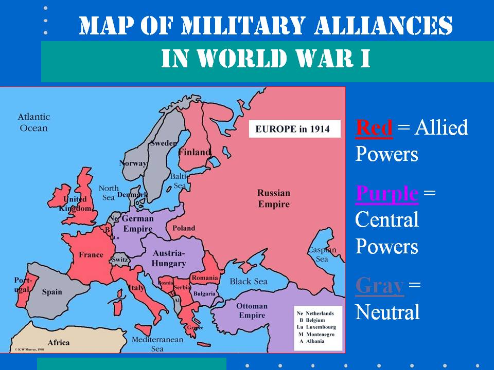 alliances in world war 1 The allies of world war i or entente powers is the term commonly used for the coalition that opposed the central powers of germany, austria-hungary, .