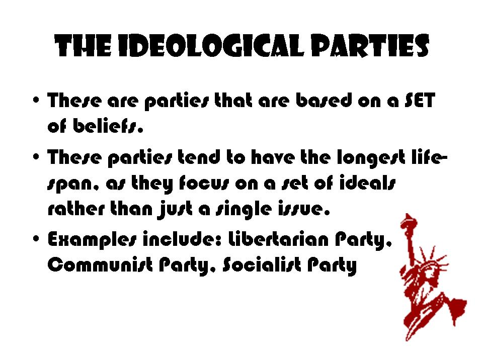 Ideological Party Examples