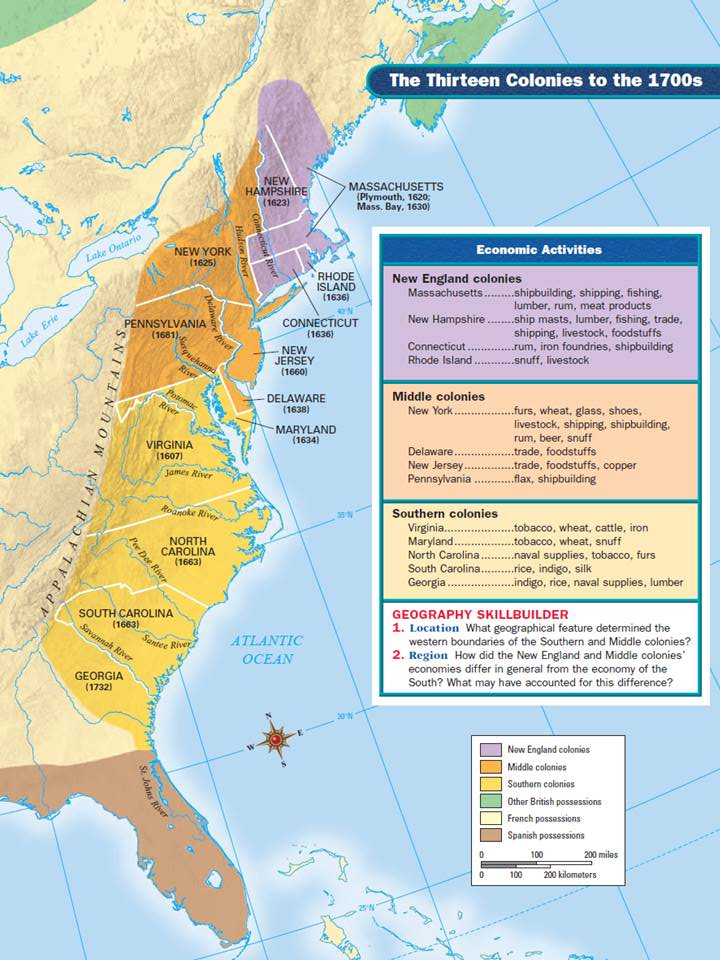 three regions of colonial america The early settlers come to america and stayed because they wanted to: a earn a   the english colonies were divided into three regions: the new england.