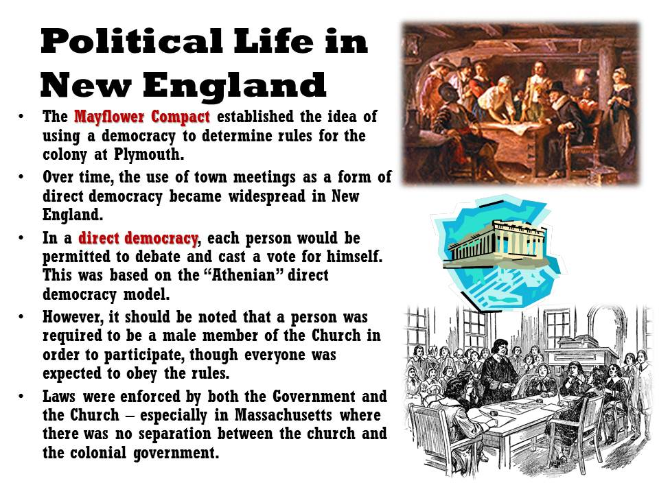 political facts new england colonies Thirteen colonies chart new england colonies 1 1635 thomas hooker fundamental orders of connecticut religious and political freedom.