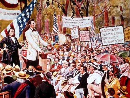 Image result for ABRAHAM LINCOLN BEGINS HIS BID FOR THE SENATE